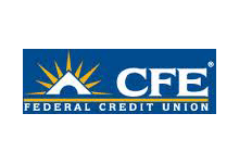 Logo for CFE Federal Credit Union, a company that uses Teleira's telecommunications services for business continuity